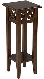Acme Production Jaisa Living Room Corner Table Walnut: Amazon.in ...