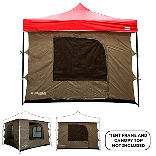 Camping Tent Attaches To Any 10 X10 Easy Up Pop Up Canopy