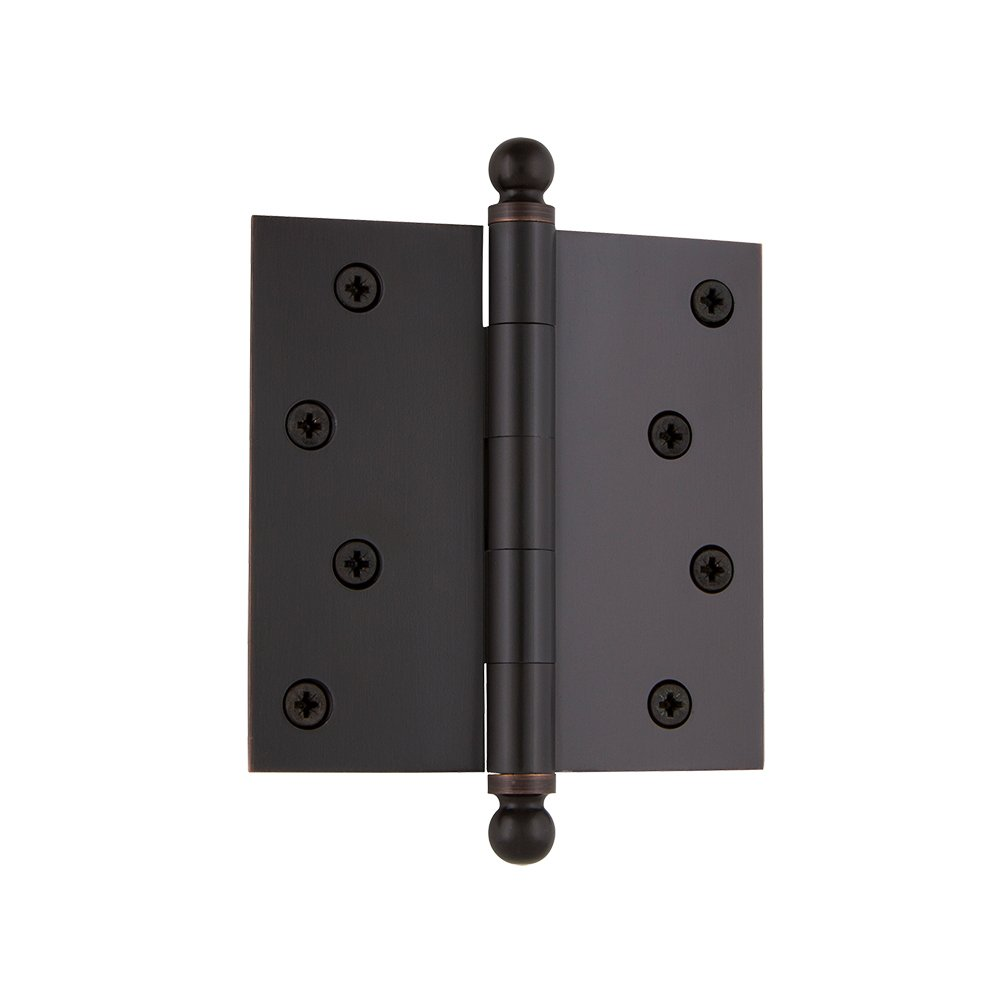 Grandeur Hardware 808988 3.5 Ball Tip Residential Hinge with Square Corners Vintage Brass 3.5 x 3.5