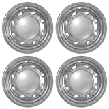 Set of 4 Chrome Wheel Skin Hubcaps w Center For Chevy S10 (1994 - 2004), GMC Sonoma (1994 - 2004) 15x7 Inch 5 Lug Steel Rim -Aftermarket: IMP/16X