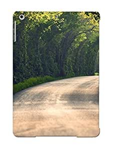 New QnbKIAp3225YwaFR Curvy Road Under The Trees Tpu Cover Case For Ipad Air - Best Gift Choice For Christmas
