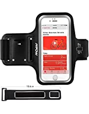 Mpow Running Armband for iPhone X/ 8/ 7, Sweatproof Running Phone Armband with Extension Strap, Card Pocket, Earphone & Key Holder, for iPhone X/ 8/ 7, HUAWEI P20 up to 5.8''