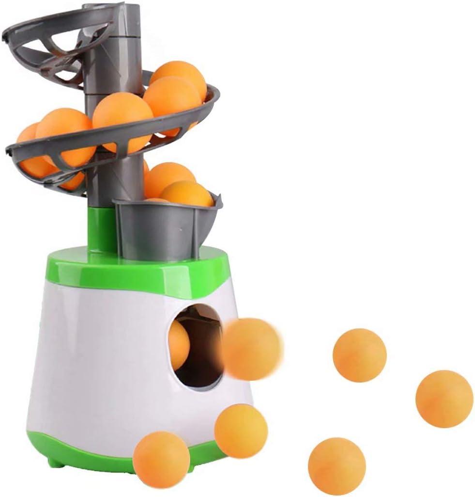 nisake Lanzador de Pong de la máquina de Pelotas de Tenis de Mesa con 10 Pelotas, Lanzador de máquina de Entrenamiento de Robot de Ping Pong de Tenis de Mesa portátil para Principiantes