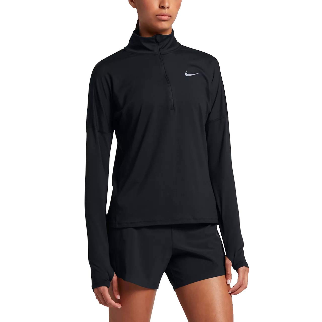 Nike Women's Dri-Fit Element Long Sleeve Running Top (X-Large, Black) by Nike