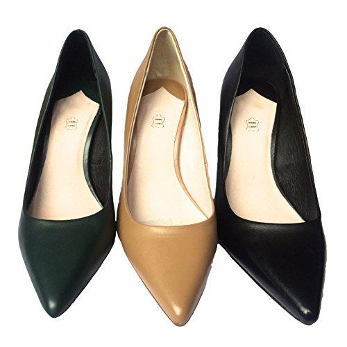 Faith Cadillac - Zapatos de vestir de Piel para mujer Verde Dark turquoise