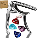 Guitar Capo Guitar Picks – Quick Change Acoustic and Electric Guitars Ukulele Trigger Capo Clamp, Easy to Move, Memory Spring, No Scratches, No Fret Buzz (2017 New design) Instagram 10000+ likes