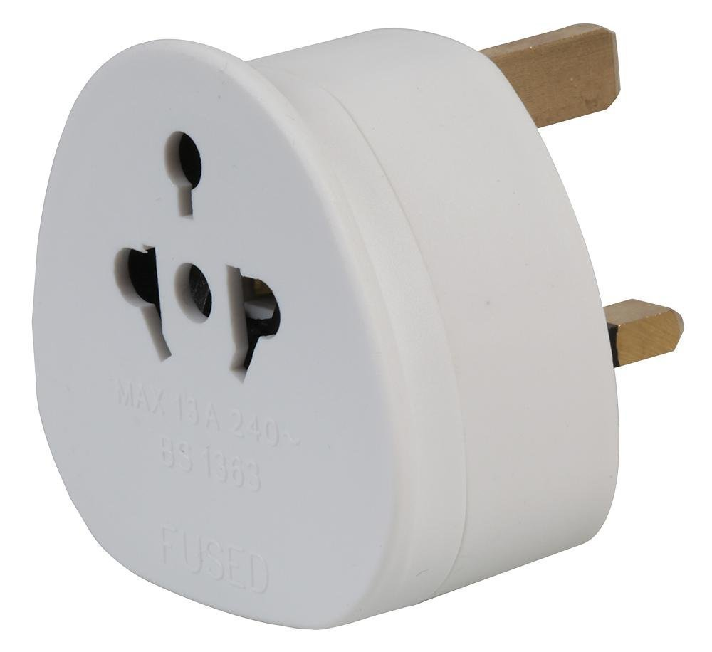 auna eu adapter European to UK Adapter EU to UK Plug: Amazon.co.uk ...