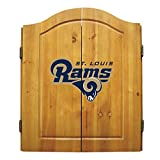 NFL Team Dartboard Cabinet Set Color: St. Louis Rams