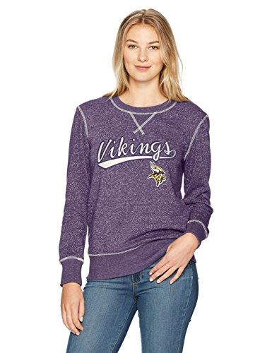 (NFL Minnesota Vikings Women's Ots Seneca Crew Neck Pullover, Large, Purple)