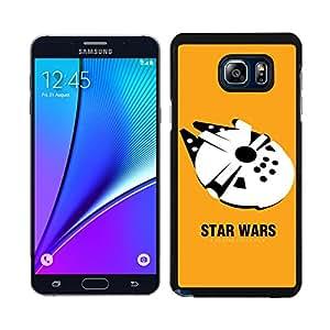 Funda carcasa para Samsung Galaxy Note 5 nave Halcón fondo amarillo SW borde negro