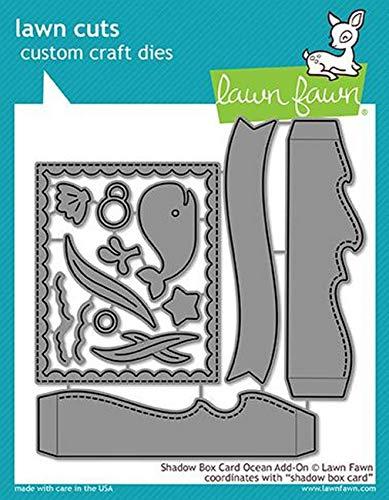 Lawn Fawn Lawn Cuts Custom Craft Die - LF1705 Shadow Box Card Ocean ()