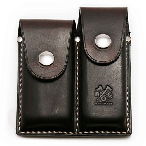 Review Outdoor Gear Custom Leather Holster for Leatherman or Other Multitool (Leatherman Wave/Charge/Surge/Rebar (Any <4.5x1.6), Deluxe Dark Brown)