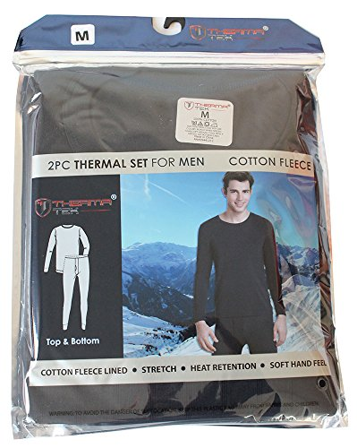 therma-tek-formerly-comfort-fit-mens-winter-thermal-cotton-fleece-top-bottom-2-pcs-set-navy-blue-m