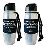 $averPak 2 Pack - Includes 2 Seychelle 28oz Flip Top Water Bottle with the STANDARD Filter