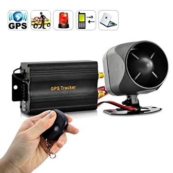 Real Time Car Gps Tracker And Car Alarm System Remote Control Siren And