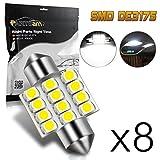 Automotive : Partsam 8Pcs White 31mm Canbus Error Free LED Light Bulbs for Interior Lights Map Dome Door Courtesy Light Bulbs DE3021 3175