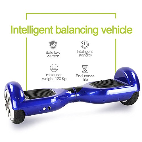UL2272 Certified 6.5″ Blue Hoverboard Self Balancing Smart Electric Scooter 2 Wheels with LED Lights-12 months warranty