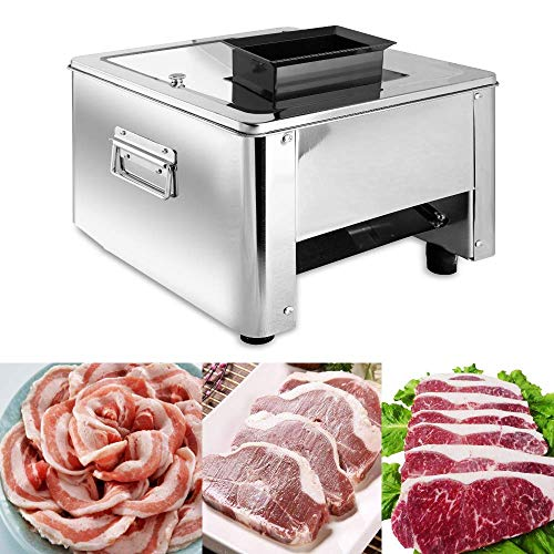 Slicer Auto - Marada Meat Slicer 3MM 110V Stainless Steel Electric Meat Slicer Machine  Auto Meat Cuber for Fast and Efficient Slicing