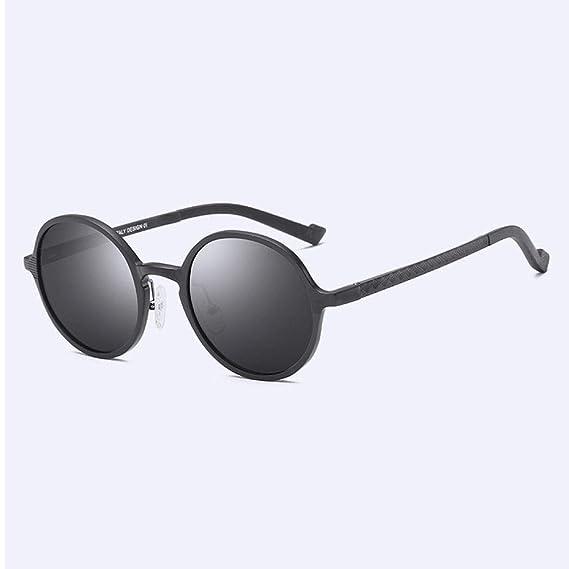 DASGF Marco Redondo Gafas de Sol Polarizadas Marco Completo ...