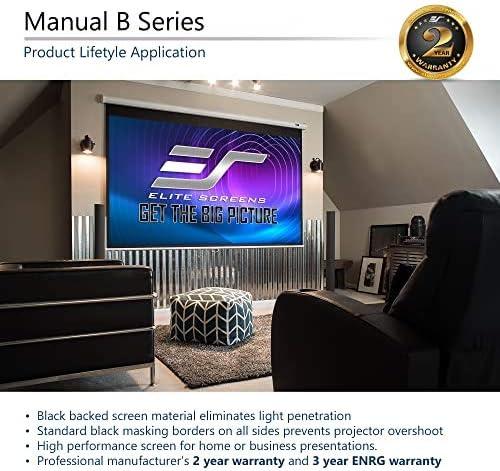 Elite Screens Manual B 100-INCH Manual Pull Down Projector Screen