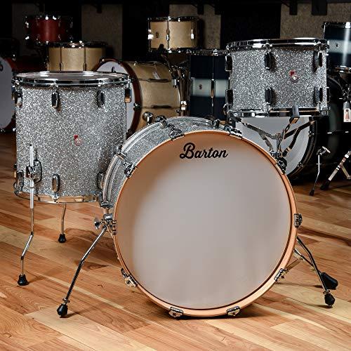 Barton Drum Co. Maple 13/16/22 3pc. Drum Kit Silver ()