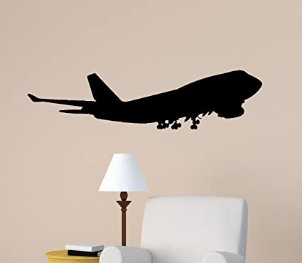 Charmant Aircraft Wall Decal Jet Airliner Sticker Aviation Room Decor Kids Boys Room  Mural Airplane Jumbo Jet