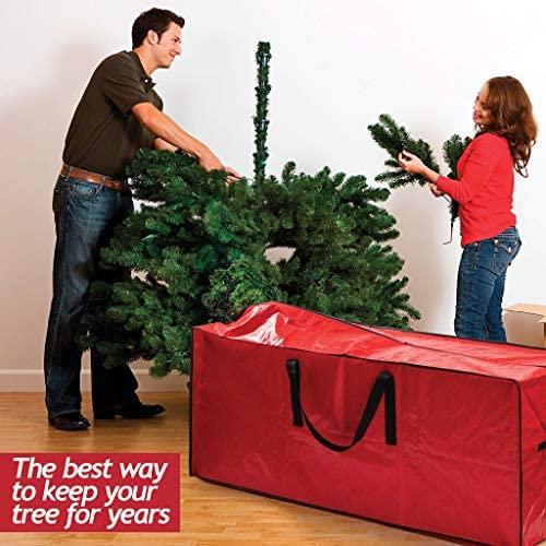 Christmas Tree Bag for Christmas Tree Storage Bag - Xmas Tree Bag suits 8 FT Artificial dissembled Tree - Heavy Duty Christmas Tree Tote, Reinforced Handles - Christmas Tree Storage Tote is Waterproof