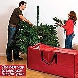 Christmas Tree Bag for Christmas Tree Storage Bag - Xmas Tree Bag fits 8 FT Artificial dissembled Tree - Heavy Duty Christmas Tree Tote, Reinforced Handles - Christmas Tree Storage Tote is Waterproof