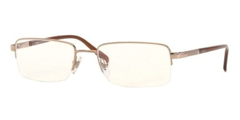 a890d9f991e59 Amazon.com  Versace Men s VE1066 Eyeglasses Light Brown 50mm   Cleaning Kit  Bundle  Clothing