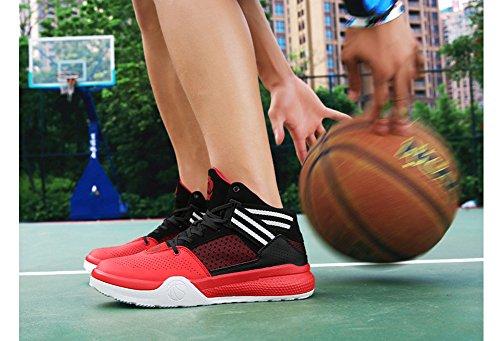 JiYe Performance Sportschuhe Herren Damen Basketball Fashion Sneakers Schwarz Rot