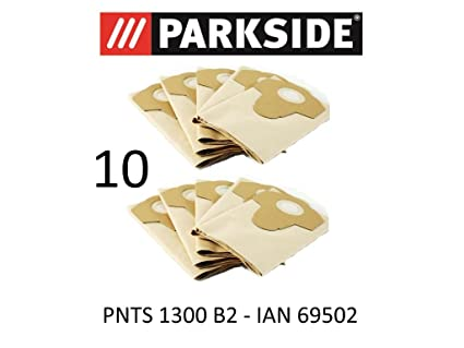 10 bolsas de aspiradora Parkside 20 L pnts 1300 B2 Lidl Ian 69502 marrón 906 –