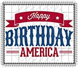 1/2 Sheet - Happy Birthday America 4th of July - D152 - Edible Cake/Cupcake Party Topper