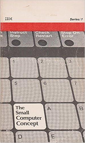 IBM series/1: The small computer concept: James D Schoeffler