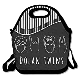 DFVBRF HDB Dolan Twins Stone Scissors Lunch Tote Insulated Reusable Lunch Box Picnic Lunch Bags For Men Women Adults Kids
