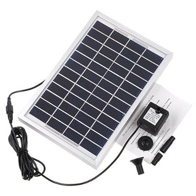 RivenAn 12V 5W Solar Pump, Solar Power Panel Kit Water Pump for Garden Pond Fountain Pool