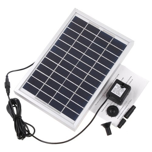 (RivenAn 12V 5W Solar Pump, Solar Power Panel Kit Water Pump for Garden Pond Fountain Pool)