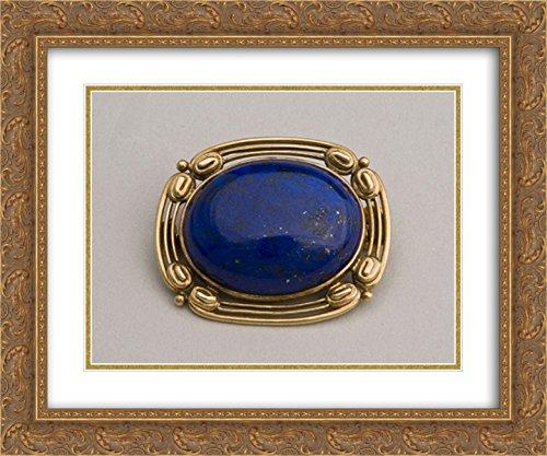 Louis Comfort Tiffany 2X Matted 24x20 Gold Ornate Framed Art Print 'Brooch '