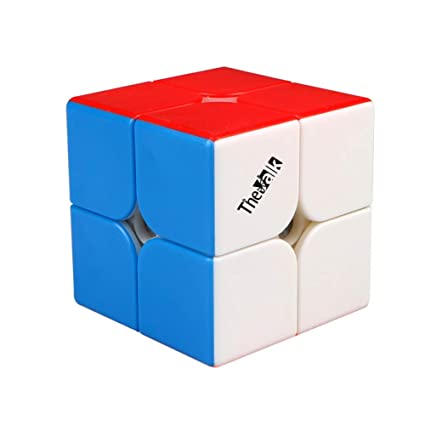 Alician Qiyi Valk2M Speed Magic Cube 2X2X2 Magnetic Puzzle Professional Match Cube Magnetic (Colorful)