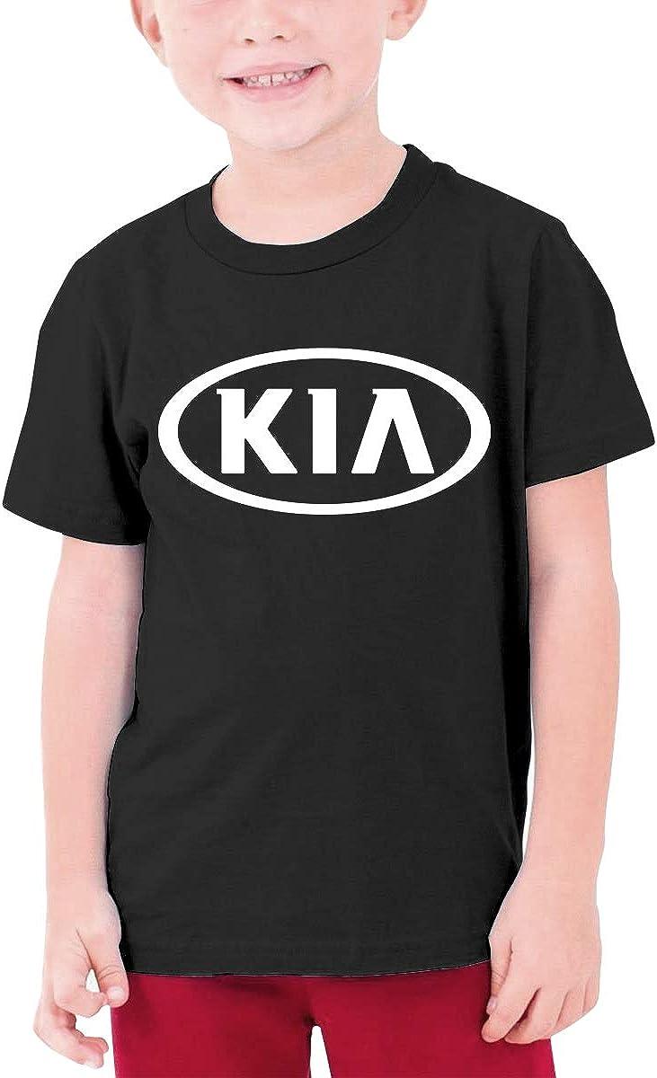 YUNLIHO Funny Design KIA/_Motors Logo T Shirt for Adolescent Black M