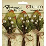 Petaloo Spring Berry Cluster, 2-Inch, White, 3-Pack