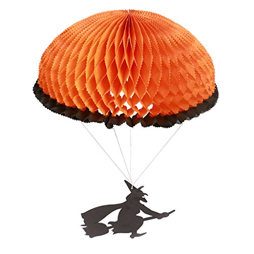 Yumoo Halloween Ceiling Paper Parachute Hanging Decorations Ornaments Parties Supplies (2)
