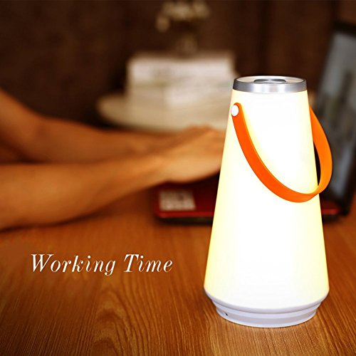 Secologo Wireless Portable Lantern Dimmable Night Light Rechargeable Lamp Touch Sensor Control Outdoor Camping With Micro USB Charger by Secologo