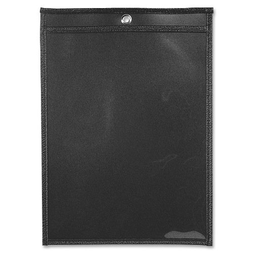 ADVANTUS Job Ticket Holders, 9 x 12 Inches, Clear Cover, Black Back, 25-Count (ANG1572) by Advantus