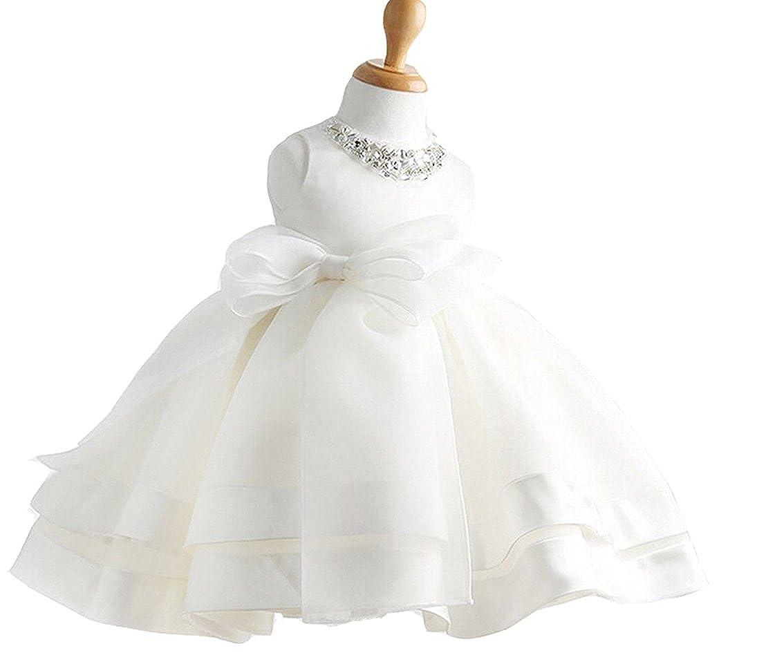 Snowskite Baby Girl Dress Christening Baptism Gowns Sequined Formal Dress JKFG8022-1