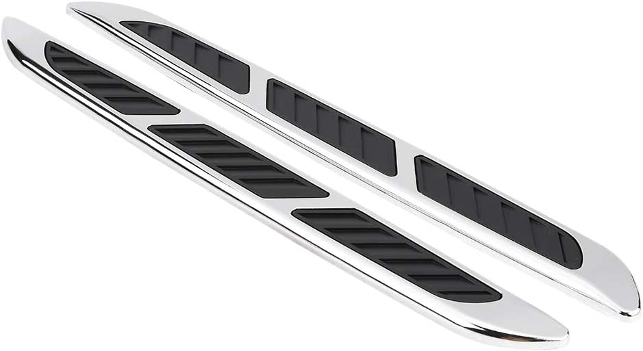 ABS Material Exterior del coche Campana Puerta lateral Flujo de aire Cubierta de ventilaci/ón Rejilla de admisi/ón Etiqueta decorativa del ajuste
