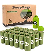 Yingdelai Dog Poo Bags - 26 Rolls(390 Bags)+1 Dispenser-Biodegradable,Eco Friendly Poop Bags Dog