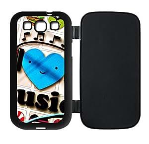Best-Diy Custom I Love Music Flip case cover Protector For RNRDY09m49u Samsung Galaxy S3 I9300