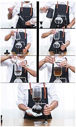 GJY Moulin À Café Manuel -Siphon Coffee Pot Set Siphon Coffee Pot Set 4 Styles Set Café, 3/5 Tasses À Vide Hines À Café,13,5 * 37Cm (5 Tasses)