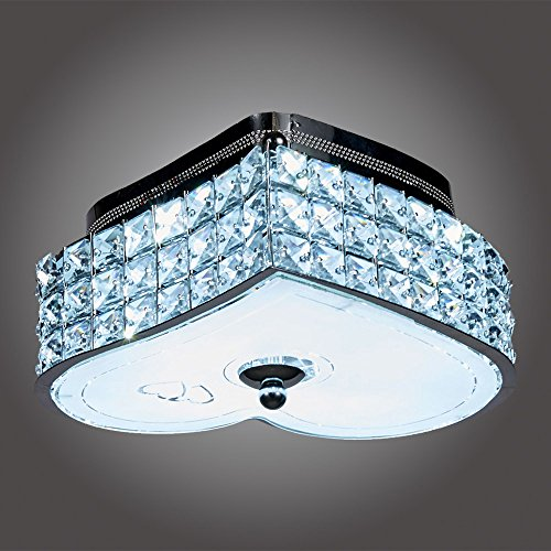 MonaLisa Gallery Crystal Chandeliers Flush Mount Ceilling Pendant Light Fixture SML-500S-L6 W9xH5S