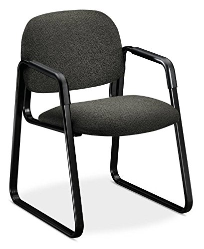 HON 4008AB12T Solutions Seating Sled Base Guest Chair, Olefin, Gray by HON